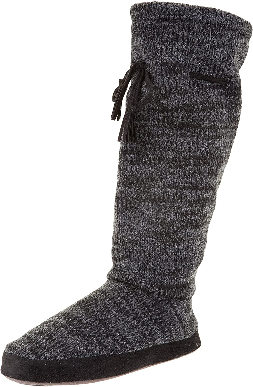 Muk Luks Women's Tall Fleece-Lined Slipper Boot