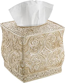 Creative Scents Square Tissue Holder ? Decorative Tissue Box Cover is Finished in Beautiful Victoria Collection
