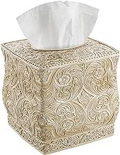 Beautiful Victoria/'s Garden  Lace /& Silk Flowers Square Tissue Box Cover
