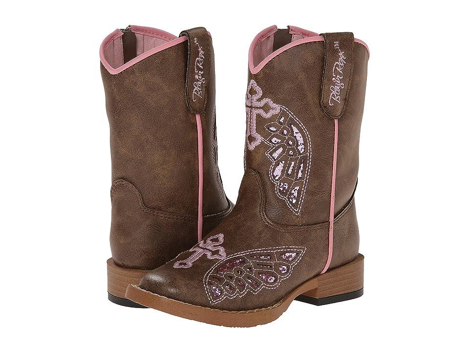 M&F Western Kids Gracie Zip (Toddler) (Brown) Cowboy Boots