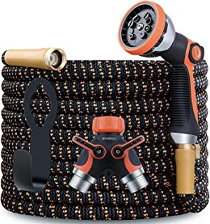 ENZOO Garden Hose Expandable- 4-Layers Latex/Superior Strength 3750D/3/4 Strong Brass Connectors/2-Way Pocket Flexible Spl...