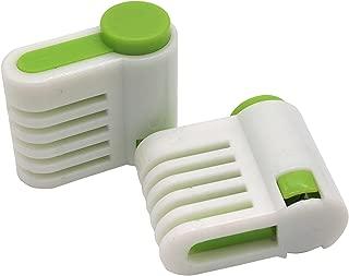 (SOWAKA) 均一 カット ケーキ スライサー 補助具 2個 セット (グリーン)