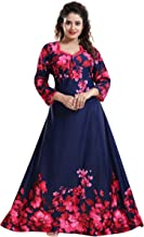 YKI® Women's Beautiful Print Full-Flare Nighty with Long Sleeves/Night Gown/Nightwear