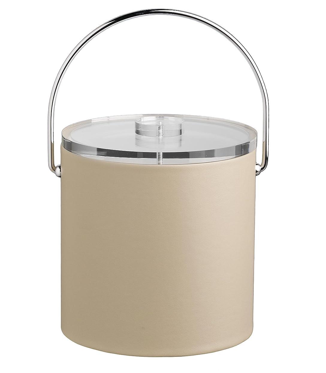 浴始まり瀬戸際Kraftware corp. Contempo 3-quart Ice Bucket with Thick Lucite、Baleハンドル、NOトリム 3クォート ブラウン 51562