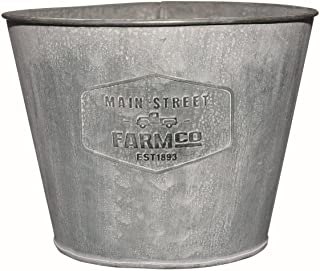 Distressed Galvanized Tin Planter - Medium