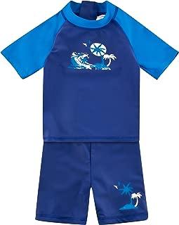 YOOJIA Baby M/ädchen Badeanzug Langarm Meerjungfrau Fischschuppen Bademode Schwimmanzug UV-Schutz Badebekleidung Rash Guard Gr 68-104