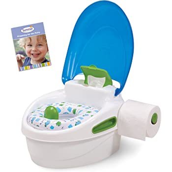 Summer Step-by-Step Potty Trainer and Step Stool, Blue/Green