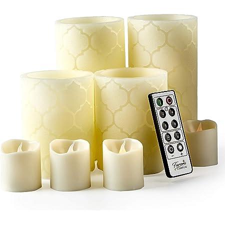 4pcs Gold  Glitter Flameless Battery Operated Pillar Candle 5 inch