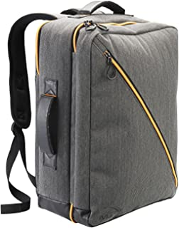 Cabin Max® Oxford Backpack Cabin Luggage - Carry On Luggage - Integrated Padded Rear Laptop Pocket - UV Coated Backpack - 50x40x20 cm (Grey Orange)