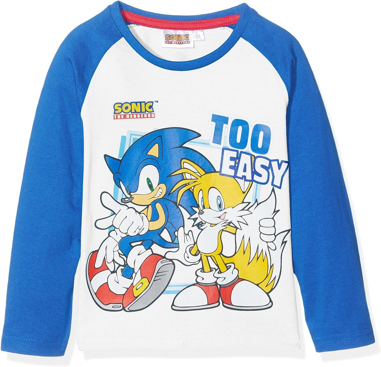 Sonic The Hedgehog Manica Lunga Maglietta T-Shirt for Bambini T-Shirt a Maniche Lunghe Moda Trendy Winter Wild Sport Ragazzi e Ragazze Casual Autunno Ragazzo e Ragazza
