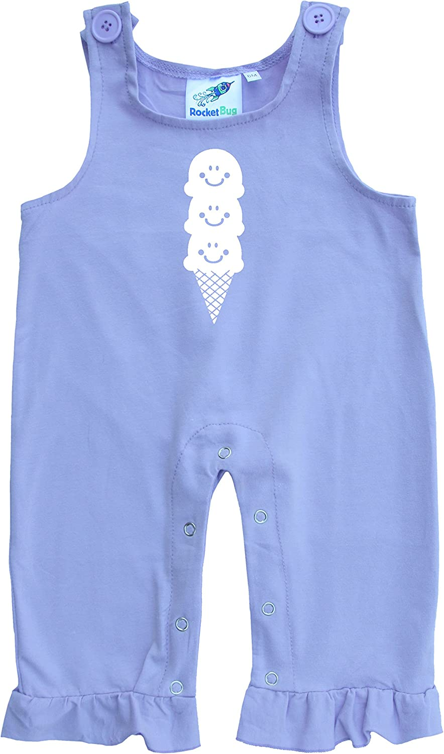 Discount Seasonal Wrap Introduction mail order Baby and Toddler Cone Cream Overalls-Ice
