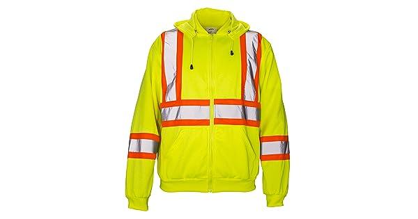 SAS Safety 690-1408 Hi-Viz Class-2 Hooded Sweatshirt Yellow SAS Safety Corp. Medium