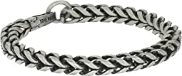 "Stainless Steel 9"" Twisted Curb Chain Bracelet"