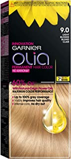 Garnier Olia, No Ammonia Permanent Hair Color With 60% Oils, 9.0 Light Blonde