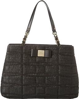 kate spade new york Veranda Place Straw Maryanne Shoulder Handbag (One Size, Black)