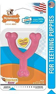 Nylabone Puppy Chew Gentle Chewing Just For Puppies Petite Wishbone Puppy Dog Chew Toy, Pink