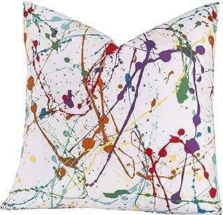 Crayola Splat Multicolored Polyester Decorative Throw Pillow 16 x 16