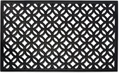 DII Rubber Doormat for Indoor and Outdoor Entryway, Front Door, & Patio - 18x30, Lattice