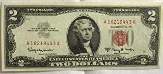 1963 A Series Red Seal $2 Two Dollar US Note