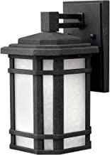 Hinkley 1270VK-LED, Cherry Creek Cast Aluminum Outdoor Wall Sconce Lighting LED, Black