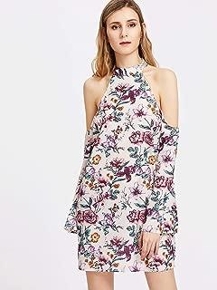 August Halter Neck Floral Dress