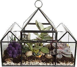 Deco Glass Geometric DIY Terrarium, Succulent & Air Plant - Castle Shaped for Indoor Gardening Decor- Create Your own Flow...