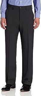Van Heusen Men's Traveler Flat Front Straight Fit Crosshatch Microfiber Pant