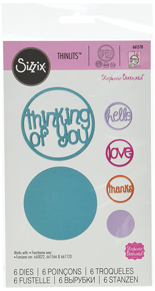 Sizzix Thinlits Dies 6/Pkg By Stephanie Barnard