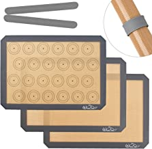 Whaline 3Pcs Silicone Baking Mats, Non-Slip Washable Reusable Baking Tray, Heat-Resistant Cooking Bakeware Mat, BPA Free, ...