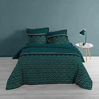 Metallise Artchic 3-Piece Bedding Set, 240 x 220 cm, Blue