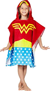 DC Comics Logo Superhero Hooded Bath Beach Swim Poncho Towel