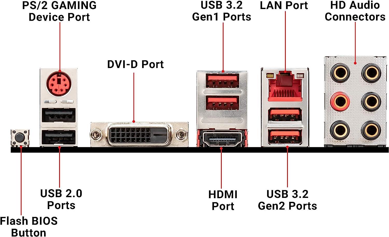 B450 Gaming Plus Max MSI Performance Gaming AMD Ryzen 2ND and 3rd Gen AM4 M.2 USB 3 DDR4 DVI HDMI Crossfire ATX Motherboard