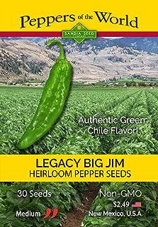 Big Jim Legacy Variety - 30 Seeds - Authentic Green Chile Flavor! Mild-medium Heat