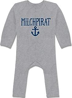 Shirtracer Up to Date Baby - Milchpirat - Baby-Body Langarm für Jungen und Mädchen