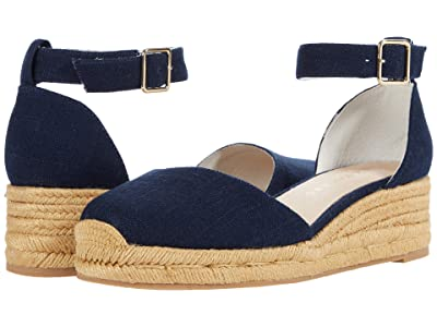 Jack Rogers Palmer Closed Toe Mid Wedge (Midnight Navy) Women