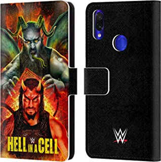 Official WWE Roman & Braun 2018 Hell in A Cell Leather Book Wallet Case Cover Compatible for Xiaomi Redmi Note 7/7 Pro