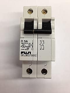 Fuji Electric, CP62DU5, Circuit Breaker, 5A, 2 Pole, D Curve