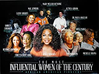 777 Tri-Seven Entertainment Famous African American Women Poster Print Black History, 24