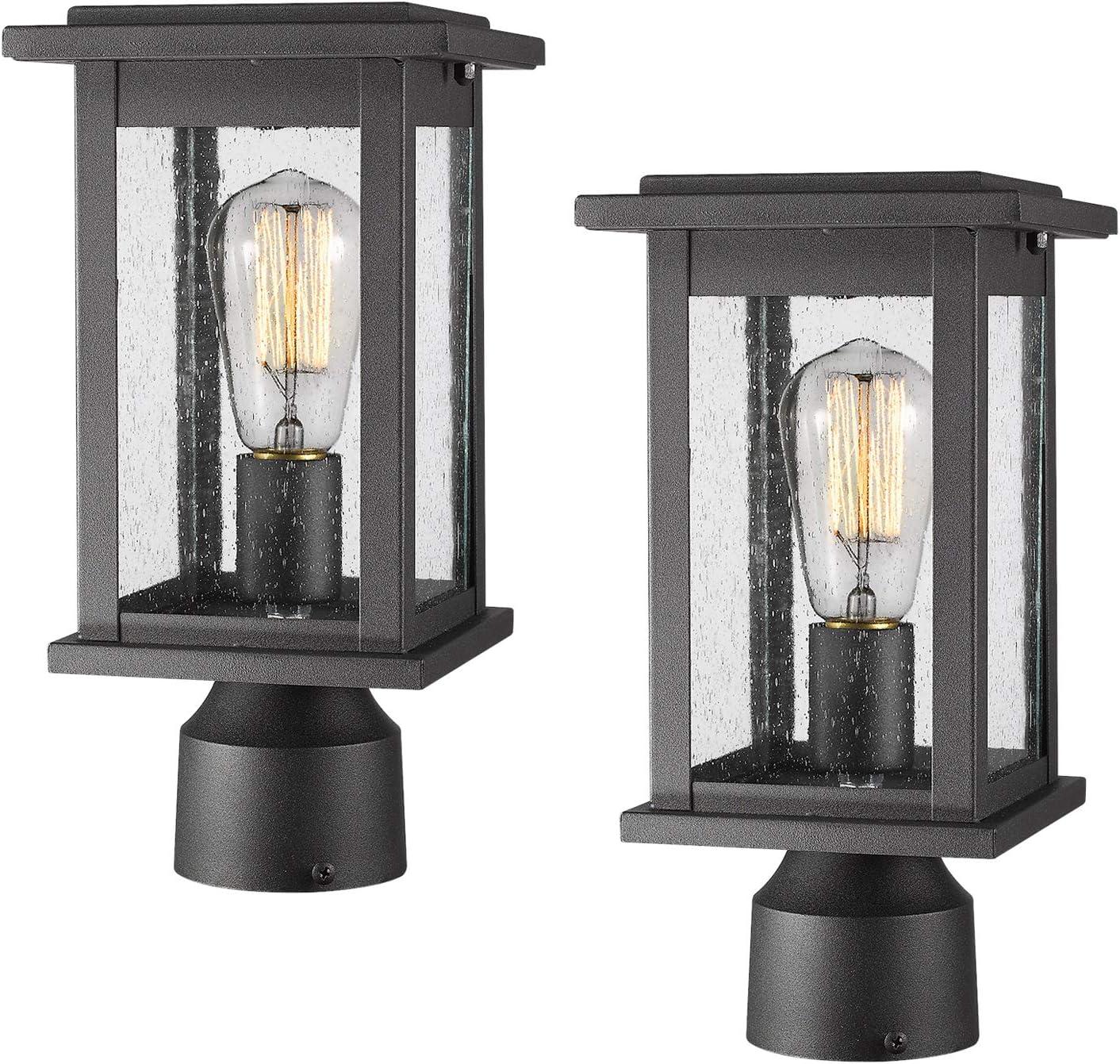 Emliviar Outdoor Post New Orleans Mall Light Fixtures Lig Popular product Exterior Pillar 2 Pack