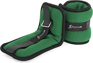 Prosource Fit Ankle Wrist Weights Set of 2, Adjustable Comfort Fit, 1 to 5 lb for Women, and Men