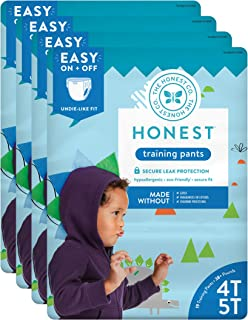 The Honest Company Toddler Training Pants, Dinosaurs, 4T/5T, 76 Count (Packaging May Vary)
