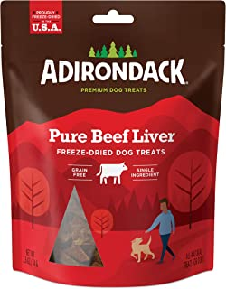 Sponsored Ad - Adirondack Grain Free Dog Treats Made in USA Only (Single Ingredient, Freeze Dried Dog Treats), Resealable ...