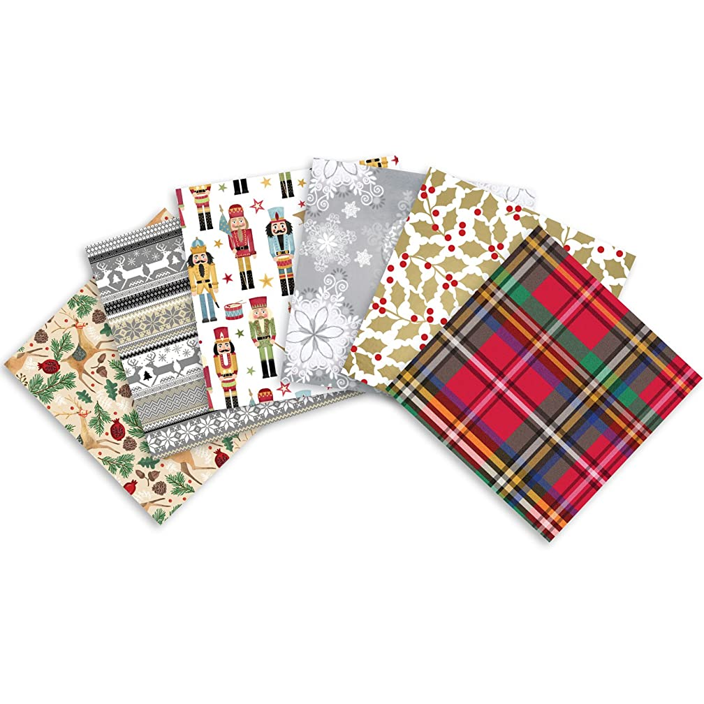 Jillson Roberts 24 Sheet-Count Christmas Printed Tissue Paper in Assorted Designs, Christmas Traditions