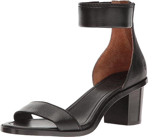 FRYE damen& 039;s Brielle Back Zip Dress Sandal, schwarz, 9 M US