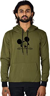 BAGHADBILLO Micky Printed Unisex Cotton Hoodies Sweatshirt for Men and Women