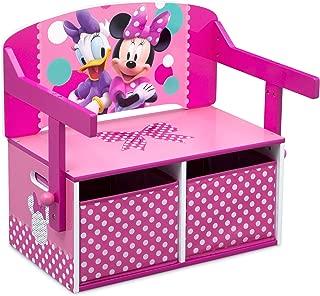 Delta Children Kids Activity Bench, Disney Minnie Mouse