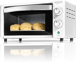 Cecotec Bake&Toast 490 - Horno Conveccion Sobremesa, Capacidad de 10 litros, 1000 W, Temperatura hasta 230ºC y Tiempo hasta 60 Minutos, Perfecto para Panini y Bollería, Incluye Bandeja Recogemigas
