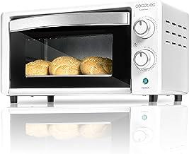 Cecotec Bake&Toast 490 - Horno Sobremesa, Capacidad de 10 litros, 1000 W, Temperatura hasta 230ºC y Tiempo hasta 60 Minutos, Perfecto para Panini y Bollería, Incluye Bandeja Recogemigas
