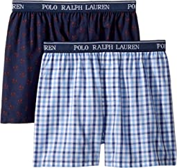 2-Pack Woven Boxers (Little Kids/Big Kids)