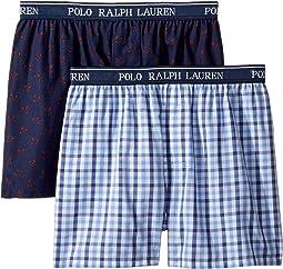 2-Pack Woven Boxers (Little Kids/Big Kids)